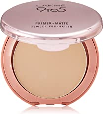 Lakme 9 to 5 Primer with Matte Powder Foundation Compact, Natural Light, 9g