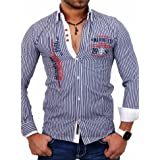 Zara 7148/301 - Jersey de Cuello Alto para Hombre Azul L ...
