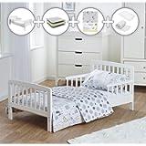 Kinder Valley Complete 7 Piece Toddler Bed Bundle with Kinder Flow Mattress and Safari Friends Reversible Bedding Set