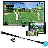 PhiGolf Simulateur de Jeu de Golf Intelligent avec bâton de balançoire Noir