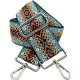 BENAVA Taschengurt Boho Muster Schulterriemen für Taschen 75-135cm mit Karabiner in Farbe Silber | Schultergurt für Taschen m