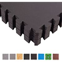 BodenMax Tapis de Protection en Mousse EVA - Dalles en Mousse avec Bordures - Tapis de Sport, Yoga, Musculation, Gym