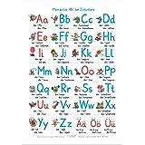 ALLEOVS® Mein erstes ABC der Zirkustiere - Alphabet Lernposter ABC Tiere Buchstaben Poster, Grundschrift (GS), Grundschule Ki