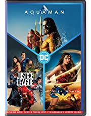 DC 3 Movies Collection: Aquaman + Justice League + Wonder Woman (3-Disc Box Set)
