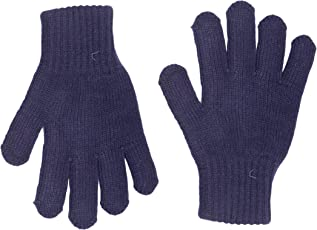 Hiver Boys' Pure Woollen Gloves - Blue- 4 to 9 Years