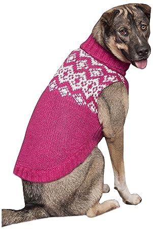 Fashion Pet Soft Fair Isle Dog Sweater, Medium, Pink: Amazon.co.uk ...