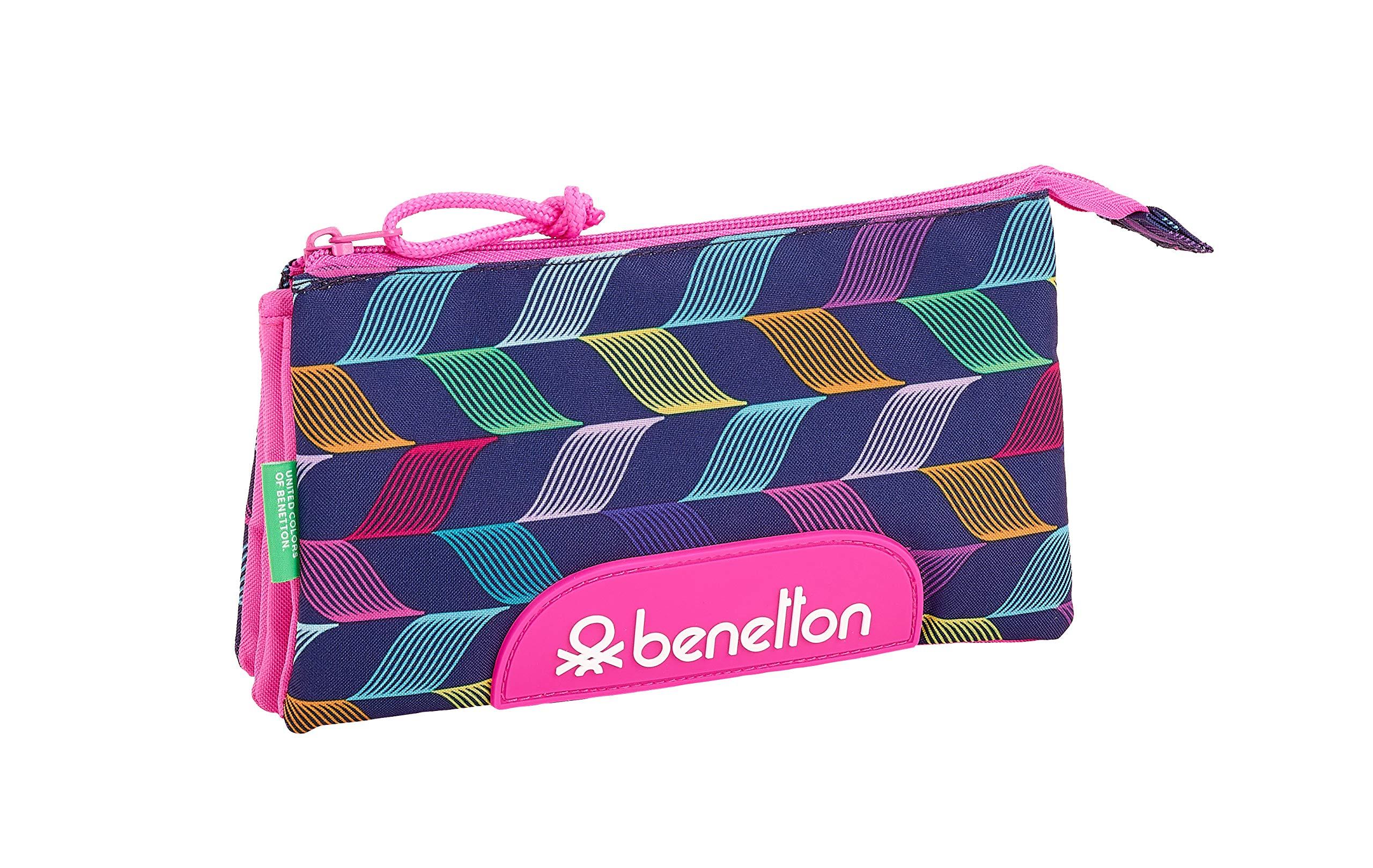 Benetton «Ondas» Oficial Estuche Escolar 220x30x100mm