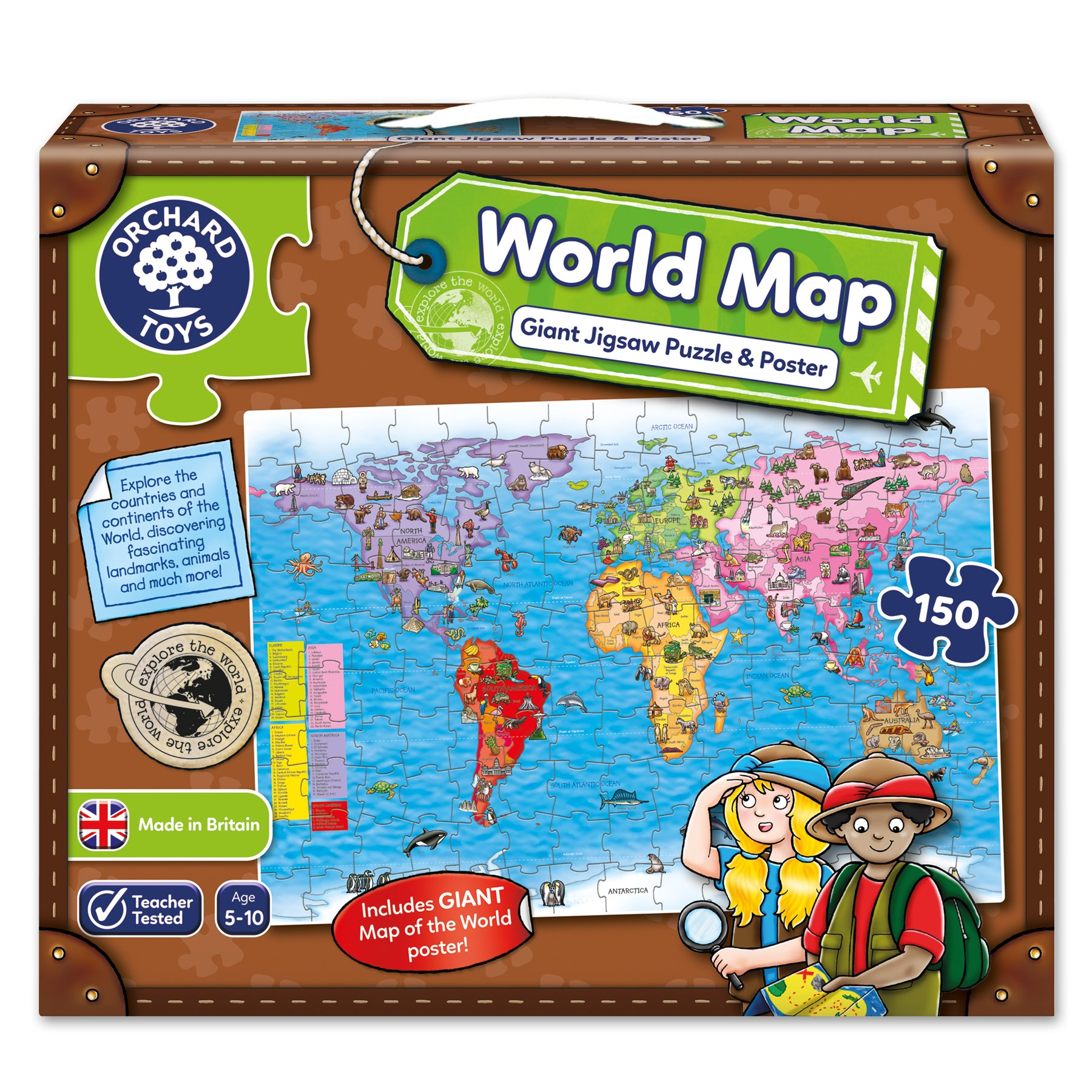 Orchard toys world map jigsaw puzzle and poster ebay orchard toys world map jigsaw puzzle and poster gumiabroncs Image collections