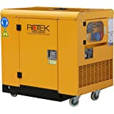 Rotek Schallgedämmter Benzin Stromerzeuger GG4SS-3-11000-ES (12 kVA / 9,2kW 400V 50Hz 3-phasig)