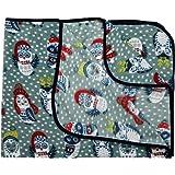 LuvLap Soft Flannel Baby Blanket, 80cm x 100cm, Grey Owl