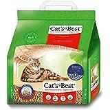 Cat's Best Arena para Gatos Aglomerante EcoPlus 10L (4,3 kg). Arena Biodegradable Hasta 7 Semanas de Uso. Lecho para Gatos de