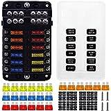 Thlevel Zekeringkast 6 Manier Blade Zekeringblok 6 Circuits Zekeringdoos W/Negatieve Bus LED Waarschuwingsindicator Vochtig B