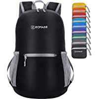 ZOMAKE Ultra Lightweight Foldable Backpack, Unisex Small Rucksack, Water Resistant Hiking Daypack for Travel & Outdoor…