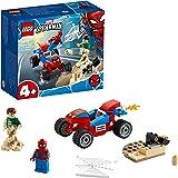 LEGO 76172 MarvelSpider-Man4+ LeCombatdeSpider-ManetSandman avec Voiture de Course pour garçons et Filles de 4 Ans et
