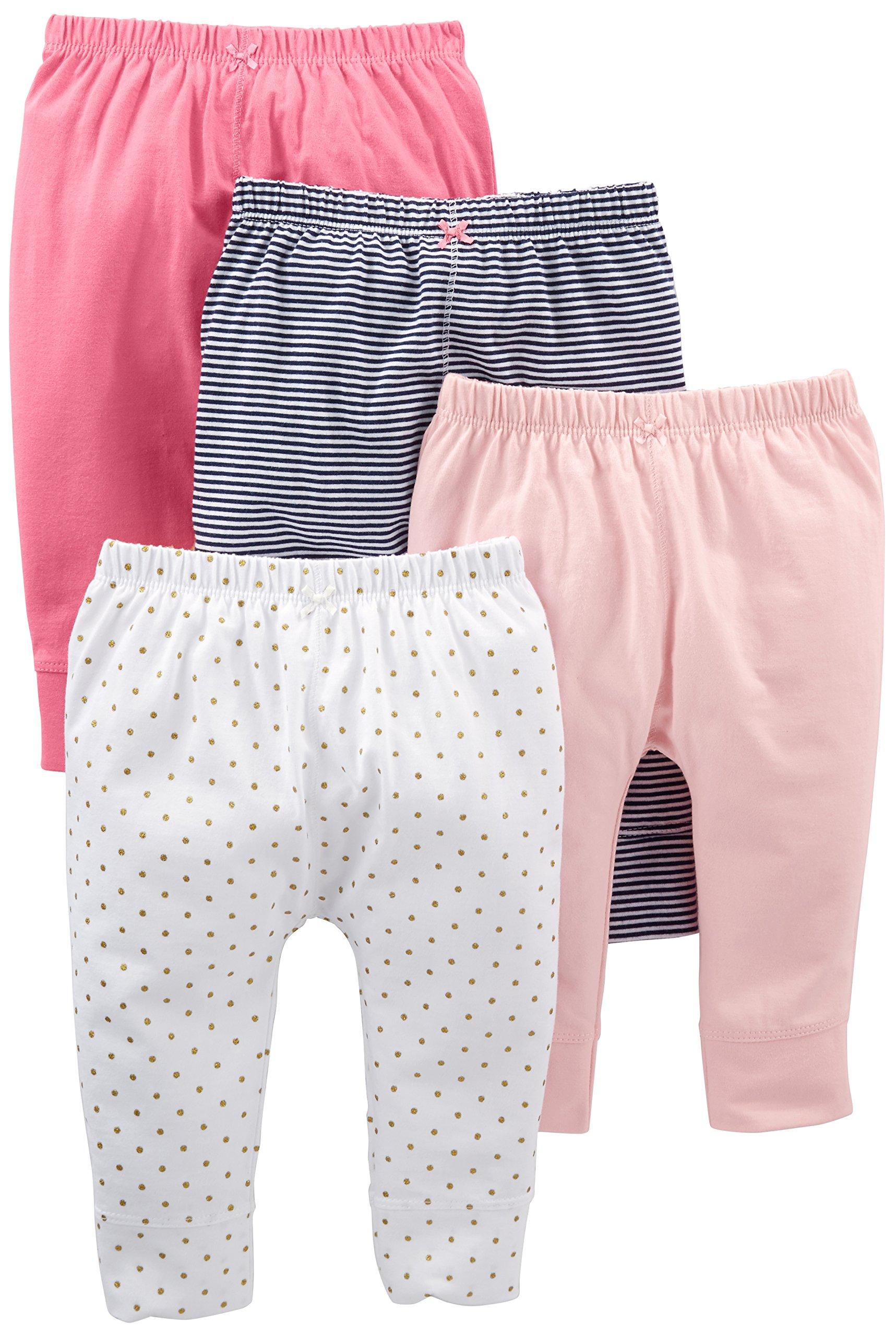 Simple Joys by Carter's pantalón para niñas pequeñas, paquete de 4 1
