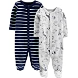 Simple Joys by Carter's 2-Pack Cotton Footed Sleep And Play Bimbo 0-24, Pacco da 2