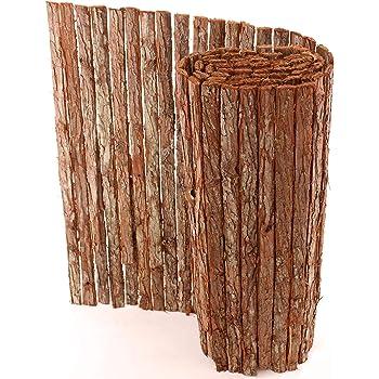 Rindenmatte einfach Rindenmatten Sichtschutzmatte Naturmatte Baumrindenmatte