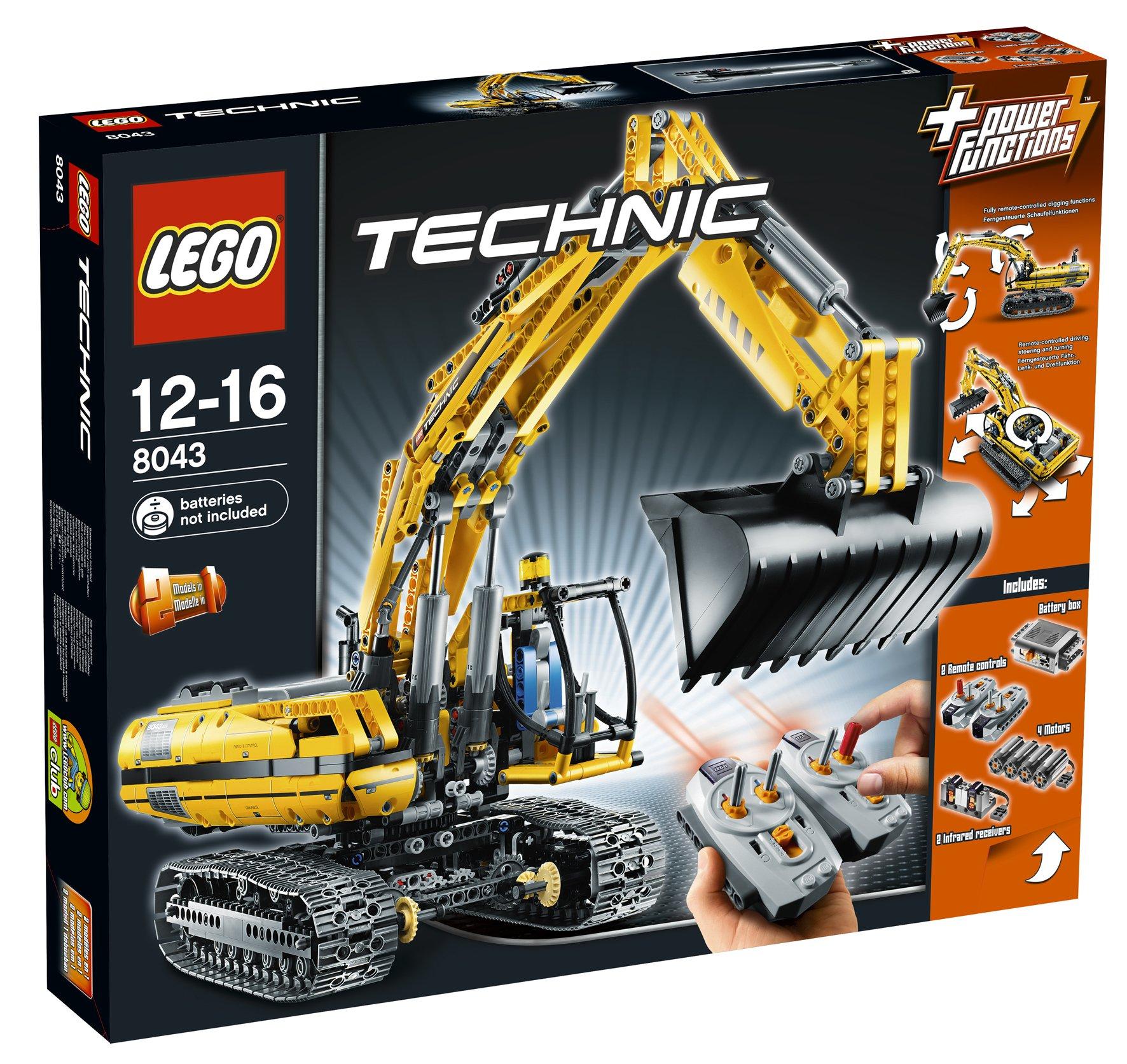 LEGO Technic 8043 – Motorisierter Kettenbagger, Raupenbagger, 360 Grad