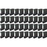 Versando - Lote de 40 archivadores de dos anillas 8 cm con solapas de color mármol/negro
