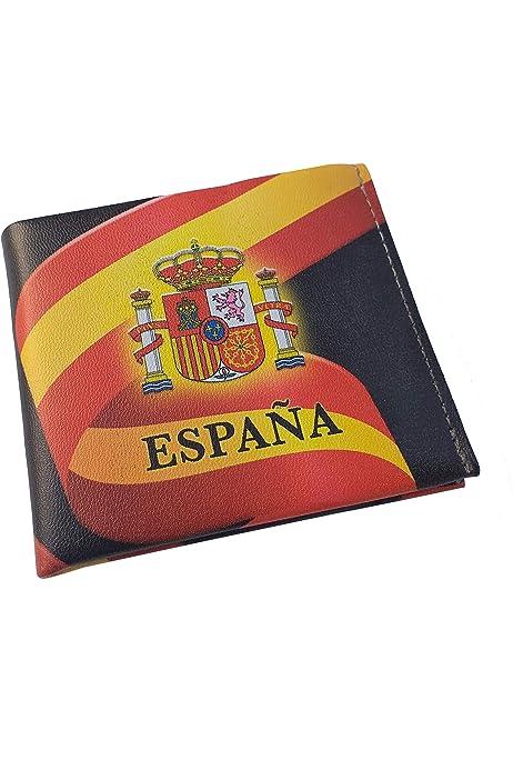 Cartera Bandera de España de Hombre en Piel de Ubrique: Amazon.es: Zapatos y complementos