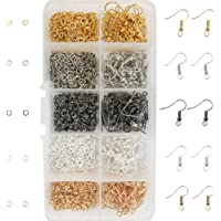 TOAOB 1150pcs Mixed Colors Earring Hooks and Open Jump Rings with Box for Earring Making