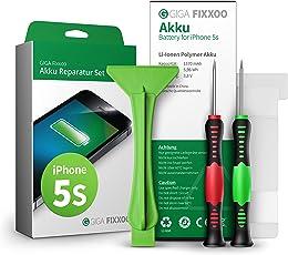 GIGA Fixxoo iPhone 5s Lithium-Ionen Akku Austausch-Set mit Bildanleitung zum Selbermachen; Komplettes Werkzeug Set zur Schnellen & Einfachen Reparatur