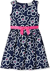 Cherokee Girls' A-Line Cotton Midi Dress
