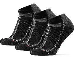 Calcetines Cortos de Running Largas Distancias, para Hombre y Mujer, Acolchados, Transpirables, Calcetines de Atletismo con C