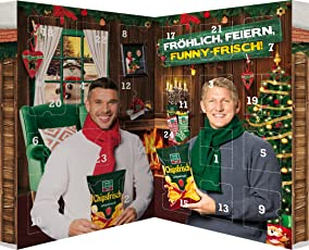 Snack Adventskalender von funny-frisch und Chio im Buchformat - 24 Knabbereien zum Advent, 1er Pack (1 x 620 g)