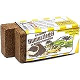 2 x 650g di Fibra di Cocco rettili substrato Biancheria da Letto per Humus terrario di Cocco