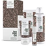 Australian Bodycare Face Kit Tea Tree Oil | 4 produkter mot oren hud, finnar och pormaskar | Kan användas till daglig vård av
