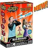 Stomp Rocket BLO-Rockets 4 Games In 1 Boys Girls Indoor Outdoor Toy - Includes 2 Launchers, 4 Rockets
