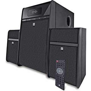 Renewed  iBall Tarang Classic 2.1 Multimedia Speaker with Bluetooth, USB, FM Radio   Remote Control  Black