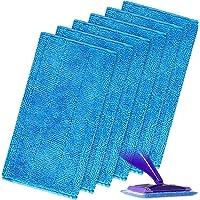 FINEVERNEK 6 PCS Lingettes Reutilisable pour Swiffer WetJet Wood, Tampons Vadrouille en Microfibre Mop pour le Nettoyage…