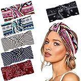 vamei Stirnbänder Damen Böhmen Haarband Damen Vintage Knoten Bandana Kopfband Turban Mädchen Haarreifen Damen…