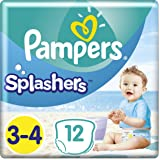 Pampers - Splashers Couches-culottes de Bain Jetables Taille 3-4 - 1 Paquet (x12culottes)
