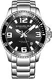 Stuhrling Original, orologio subacqueo professionale da uomo, analogico, in acciaio inossidabile, orologio svizzero al…
