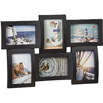 relaxdays bilderrahmen f r mehrere fotos collage f r 6 bilder fotorahmen 3d optik zum. Black Bedroom Furniture Sets. Home Design Ideas