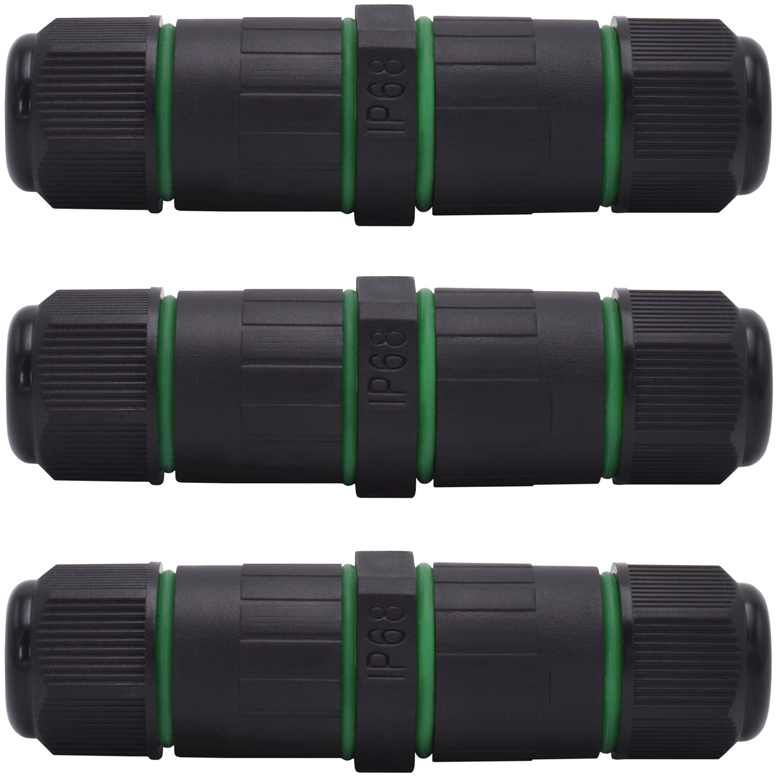 Evolution IP68 Kabelverbinder 3er Pack für 1-9mm Kabeldurchmesser ...