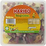 HARIBO Tangfastics bulk sour sweets tub 1.75kg, Fruit Punch, 1750 gram