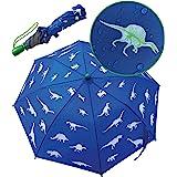 HECKBO® Ombrello Magico per Bambini - Cambia Colore con la Pioggia - Ombrello Pieghevole per Cartella e Zaino - Strisce Rifle