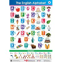 Jumbo English Alphabet and Numbers Chart for Kids | Perfect For Homeschooling, Kindergarten and Nursery Children | (39…