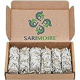 Bastoncini di sbavature di salvia bianche - 6-10cm Bundle di salvia - Bastoncini di sbavature di salvia perfetti Kit di sbava