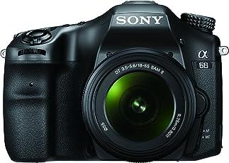 Sony ILCA68K.CEC Alpha 68 A-Mount Digitalkamera (24 Megapixel, 6,7 cm (2,7 Zoll) Display, 79-Phasen AF-Messfelder) inkl. SAL-1855 Objektiv schwarz