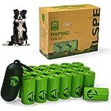 BLSPE Dog Poop Bags Pet Dog Supplies 300 Bag 20 Rolls With Dispenser and Waste Dog Poop Bag Leash Clip for Doggie Cats Puppy