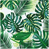 Talking Tables Pack of 20 Tropical Cocktail Napkins Paper Palm Leaf Serviettes for Kid's Jungle Party, Hawaiian Theme, Luau,