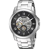 Fossil Grant For Men Black Dial Stainless Steel Band Automatic Watch - ME3055