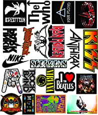 Elton 3M Vinyl Sticker Pack [20-Pcs], Lovely 3M Vinyl Musicals & Assorted - 1 Stickers for Laptop, Cars, Motorcycle, PS4. X Box One . Guitar Bicycle, Skateboard, Luggage - Waterproof Random Sticker Pack