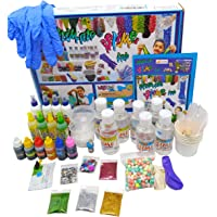 StepsToDo Ultimate Slime Lab. All in One. Make 20+ Slime. Milky, Unicorn Rainbow, Swirl, Crunchy, Foamy, Clear, Galaxy…