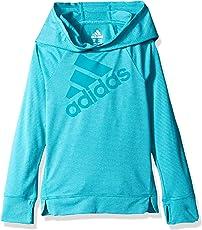 adidas Girls' Hooded Long Sleeve Top